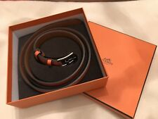 Authentic Hermes Etriviere 32 Fire Orange Leather Belt