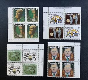 Canada Block Plate Stamps #866 867 Inuit Spirits 899 Mosher 837 838 894 895