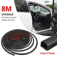 NEW 8M Big D Shape Sealing Weather Strip Car Door Window Trim Edge Moulding Seal