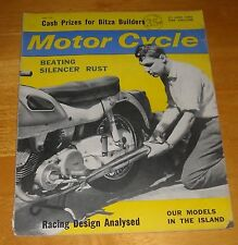 THE MOTOR CYCLE Magazine June 21 1962 TT Week Briefs Bitza Builders Silencer Fix