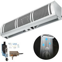 900mm Air Curtain w/Limit Switch 3 Speeds White Commercial for Shop Restaurant