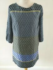 APANAGE SIZE 16 EUR 42 BLUE / BLACK MIX CIRCLE PRINT DRESS