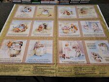 The Tale of Mrs Tiggy-Winkle Beatrix Potter Book Panel 35x42 QT Blocks Hedgehog