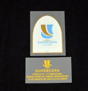Official Barcelona Supercopa 2018 Football Shirt Patch/Badge Match detail