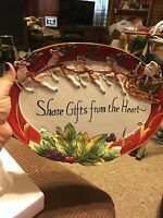 Fitz & Floyd Regal Holiday Shared Gifts From The Heart Platter