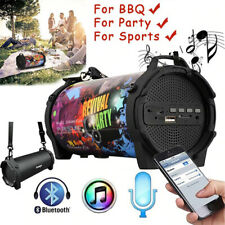 Portable Wireless Speaker Outdoor Party Subwoofer FM Radio Powerful Bass HD USB
