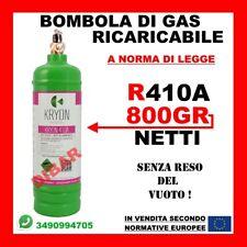 R410A BOMBOLA DI GAS REFRIGERANTE R410A DA 1KG NETTO 800 GR. RICARICABILE