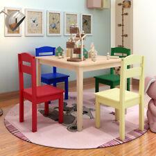 5 tlg. Kindersitzgruppe Kindertischgruppe Kindertisch mit 4 Stühlen Kindermöbel