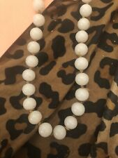 - 26�Length - Summer Charm Vintage White Beads Single Strand Necklace