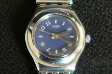 SWATCH IRONY OCENIDE WOMENS WATCH WITH BLUE FACE STAINLESS STEEL STRAP A CLASSIC