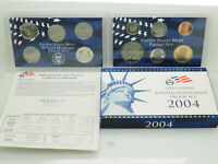 2004-S US Mint Uncirculated Coin Proof Set w/Box & COA; 11 Piece Coin Set