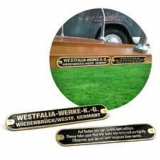 Westfalia Werke Roof Rack Badge Tags for Volkswagens Westy Bus Campers samba kdf