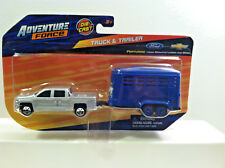 Maisto Adventure Force DIE-CAST TRUCK & TRAILER Chevy P/U w/Horse Trailer. 1:64.