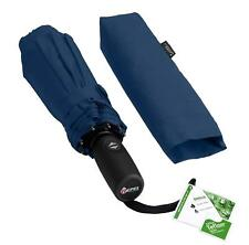 Paraguas de viaje a prueba de viento con recubrimiento de teflón (azul marino)