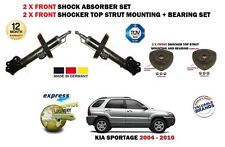 FOR KIA SPORTAGE 2004-> 2x FRONT SHOCK ABSORBER SHOCKER SET + 2X STRUT MOUNTINGS