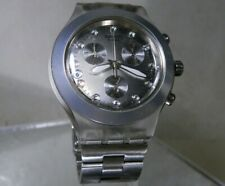 Swatch Chronograph Full Blooded Diaphane Irony Swarovski Markers on Caramel Dial