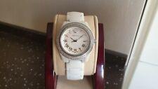 Authentic Versace DV One, white ceramic and diamonds, quartz ladies watch