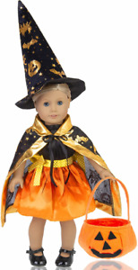 ebuddy 4pc Halloween Costumes Outfit Set for 18 inch American Girl Dolls...