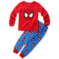 Cartoon Bebé Niño Niño Niña Spider-man Batman Minnie Ropa de dormir Pijama 1~7Y
