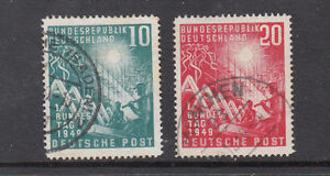 Germany Bund Mi111-2 used sound stamps  cat60+euros