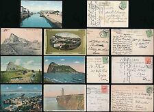 GIBRALTAR 1907-28 PPCs POSTED in GB...7 CARDS