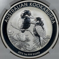 2013P AUSTRALIA S$1 KOOKABURRA NGC MS 70 1 OF FIRST 2500 STRUCK 1OZ SILVER (MR)