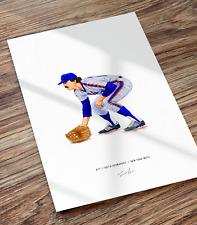 Keith Hernandez 1986 New York Mets Baseball Illustrated Print Poster Art
