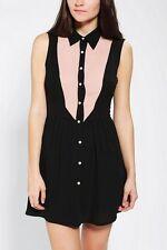 Urban Outfitters Glamorous Tuxedo Chiffon Open Back Dress Size XS