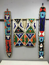 African Yoruba Hand Beaded Vest Belts Cowrie Shells