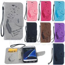 Flip Patterned PU Leather Wallet Card S lot Stand Case Cover Protection Bumper B