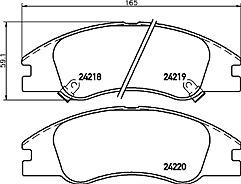 Mintex MDB2703 Front Brake Pad Set