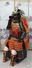 Fer et soie japonaise portable Rüstung Samurai armure orange  O06