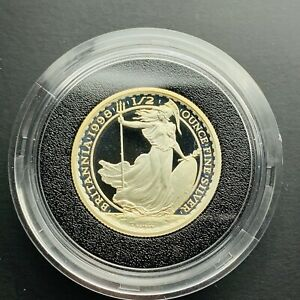 1998 Royal Mint Silver Proof Britannia £1 One Pound 1/2oz Coin Encapsulated Only