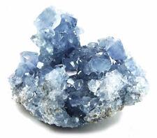 Drusa de Piedra Celestina de Madagascar Meditación Piedras Cristal Geoda Puntas
