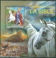 CENTRAL AFRICA  2014 BIBLE ANIMALS NOAH'S ARK ARABIAN HORSE S/S  MINT NH