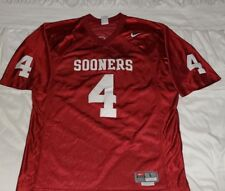 Nike Team Oklahoma Sooners Jersey #4 Stitched on logo and number Size Large
