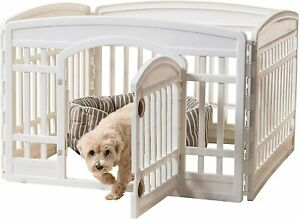 """Iris USA 24"""" Panel exercise play pet pen with Door RRP £79White brand new boxed"""