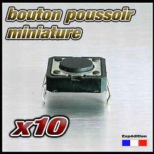 986/10# bouton poussoir pour circuit imprimé lot de 10pcs  BP CI 12x12mm