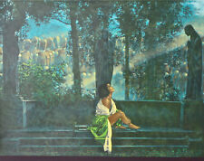 """Walter Girotto """"Waiting for a Sunbeam"""" signed serigraph"""