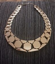 Ladies Heavy Statement Chunky  Gold Necklace Jewellery