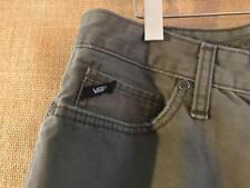 VANS men's green jeans size 30 x 29.5 zip fly cotton mid-rise straight