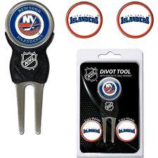 NHL New York Islanders NY Golf Divot Tool and 3 Ball Markers Enamel Team Logo