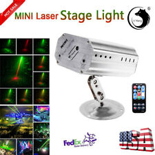 R&G Pattern Laser Projector LED Stage Lights Party Disco DJ Lighting +Remote US