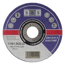 SBS Disques de Tronçonnage Ø 115, 125, 230 MM Flexible V2A Acier Métal Inox