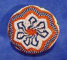 """Nevada Paiute Indian Beaded Basket 3.75"""" x 2.25"""" Especially early example c.1920"""