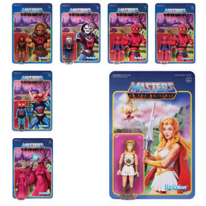 SUPER 7 REACTION MASTERS OF THE UNIVERSE WAVE 5 FULL SET SHE-RA HORDAK IN STOCK