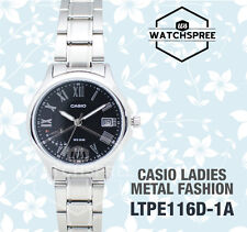 Casio Ladies' Analog Watch LTPE116D-1A LTP-E116D-1A