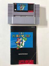Super Mario World SNES Super Nintendo 1992 Authentic Game Cartridge w/ Manual