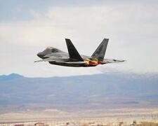 F-22 mit Afterburner 11x14 Silber Halogen Fotodruck
