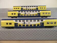 """Piko H0 Personenwagen Set 3-teilig Doppelstockwagen """"metronom"""" ohne OVP H127"""